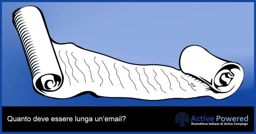 Quanto deve essere lunga un'email?