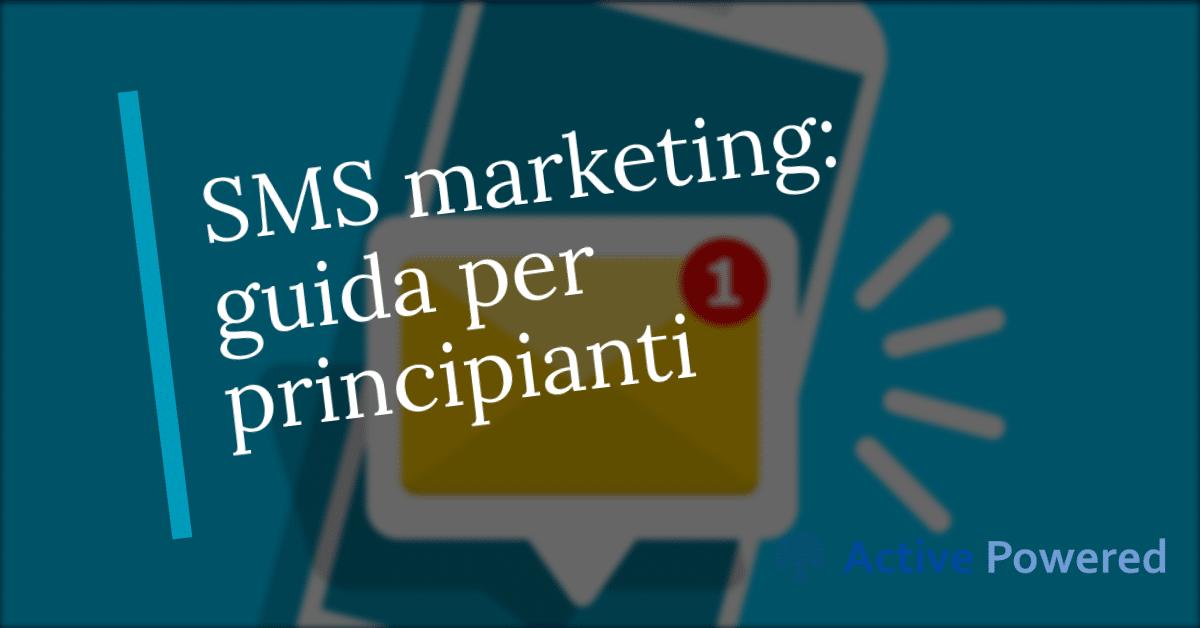 SMS marketing: guida per principianti.