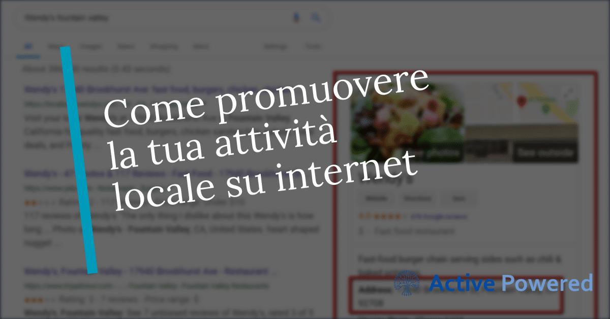 Come promuovere la tua attività locale su internet