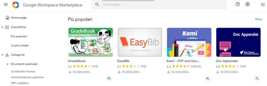 google workspace - app marketplace
