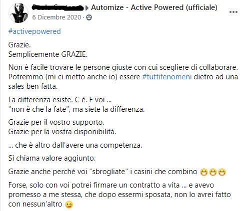 Come far crescere un gruppo facebook - cliente felice