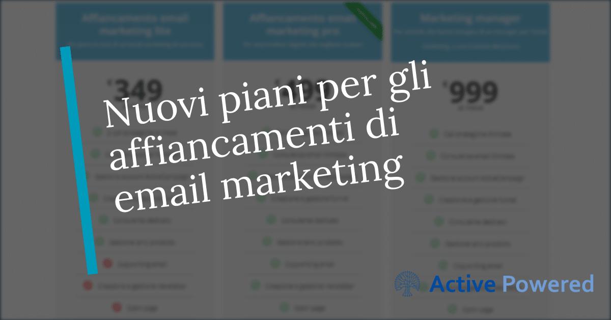 Nuovi piani per gli affiancamenti di email marketing